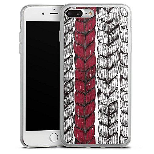 Apple iPhone 8 Plus Slim Case Silikon Hülle Schutzhülle Zopf Grafik marenkruth Silikon Slim Case transparent