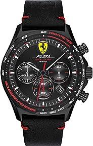 Scuderia Ferrari Men's Black Dial Black Leather Watch - 83