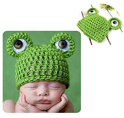 Baby Häkelkostüm Strick Kostüm Fotoshooting Baby Fotos Mütze (Baby Frosch Kostüme)