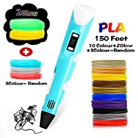 3D Drawing Printing Printer Pen Bonus PLA Filament Refills, Perfect Gift Art Crafts for Kids & Adults