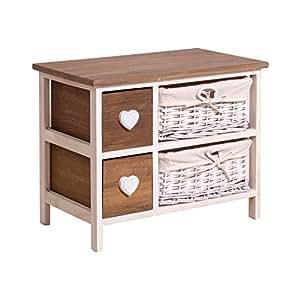 rebecca srl kommode sideboard hochkommode kommodenschrank mit zwei schubladen zwei. Black Bedroom Furniture Sets. Home Design Ideas