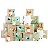 Set de boîtes calendrier de l'Avent DIY – 24 boîtes colorées à poser et remplir – 24 boîtes - Père Noël