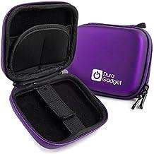 Custodia Per Nikon Coolpix S2900   S5300   A10   A300   S6900   S3700   L31   P340 - Con Moschettone + Tasca Per Accessori - Viola - DURAGADGET
