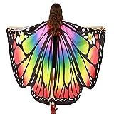 GoldLiiver Alas de Mariposa Disfraz para Mujer Disfraz de alas de mariposa Alas de La Mariposa Capa