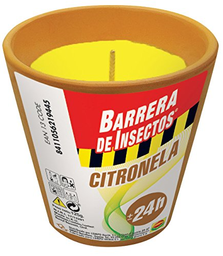 Compo 2194402011 Barrera De Insectos Vela Citronela Terracota, 8x9x9 cm