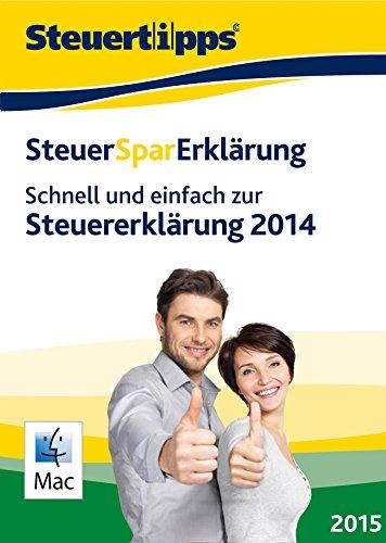 SteuerSparErklärung 2015, Mac-Version (für Steuerjahr 2014) [Download] -