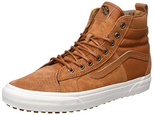 Vans Herren Sk8-Hi 46 MTE DX Hohe Sneaker Schuhe, Braun (Glazed Ginger/Flannelmte), 40 EU