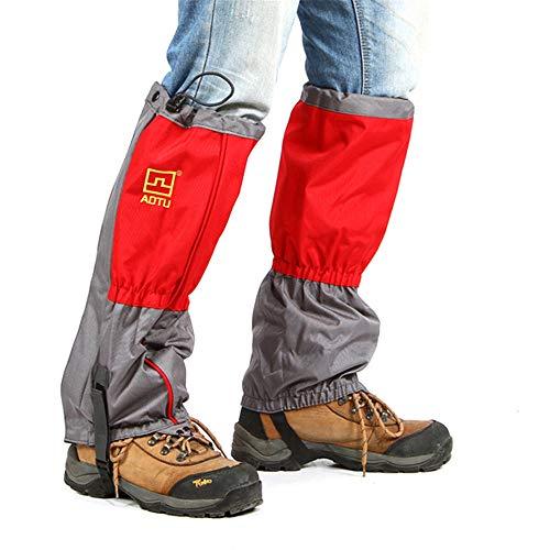 LLCP Outdoor Inverno Antivento e Traspirante Copertura Scarpa, Ispessito Piede Caldo Set Alpinismo Ice Protezione Forniture 46 * 25 * 2cm,Orange