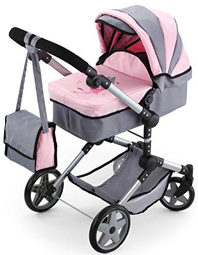 Bayer Design 1850800 - Kombi Puppenwagen Neo Pro, grau/rosa