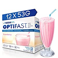Optifast Very Low Calorie Diet Shake Strawberry Flavor, 636g