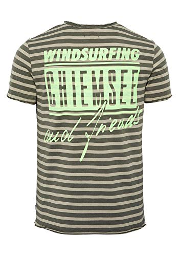 Chiemsee Herren T-Shirt Men, Dark Green/Sand, XL