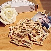 BlueloverGraffette 100pcs 35mm foto di legno (Bobine Di Legno Per L'artigianato)