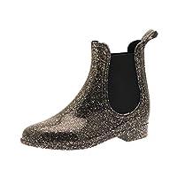 Kids Girls Chelsea Ankle Wellies Childrens Waterproof Wellington Boots Gusset Snow Rain Size UK 10-1