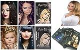 takestop® SET 6 FILI PEZZI GLITTER PER CAPELLI HAIR STYLE 8 STRASS PER FILO BRILLANTINI ACCESSORI PETTINATURE colore casuale