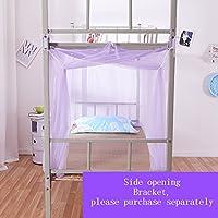 Moskitonetz Einzelbett Polyester Atmungsaktiv Anti-Moskito-Reißverschluss Staub Geeignet für 3,3 Fuß / 4 Fuß Bett