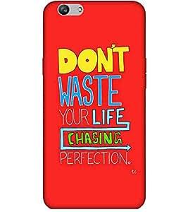 For Vivo V5 Plus don't waste you life ( good quotes, nice quotes, quotes, red background, don't waste you life ) Printed Designer Back Case Cover By Living Fill