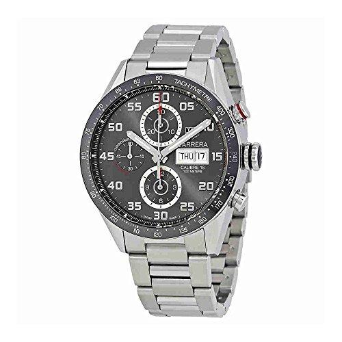 Tag Heuer Carrera Anthracite Dial Mens Chronograph Watch CV2A1U.BA0738