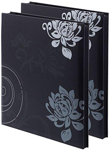 walther design 2er Pack - Einsteckalbum Grindy, schwarz, 400 Fotos 10x15 cm