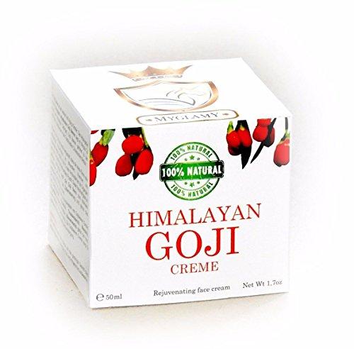 -310- MyGlamy LUXUS 50 ml Himalayan GOJI-BEEREN Gesichtscreme +im Glastiegel +Hyaluronsäure Bio Anti Age 100% NATUR +ohne Konservierungsstoffe, Parfüm, Alkohol +Gratis Gesichtsmaske