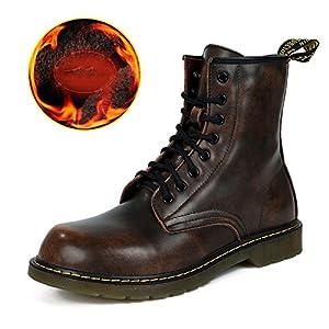 Zapatos del tendón del ocio de los hombres vestido escalar montañas otoño aire libre pies grandes zapatos deportivos resbalón encendido negro-marrón-E Longitud del pie=38EU