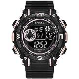 Blisfille Automatikuhr Herren Wasserdicht Digitale Uhr Herrenuhr Schwarz Rose Gold Outdoor Sportuhr Armbanduhr Automatikuhr