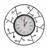 Handicraftscart Metal Round beaded Clock...