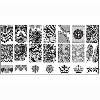Malloom® 1PCS Nail Stamp Stamping Women Nail DIY Art Template