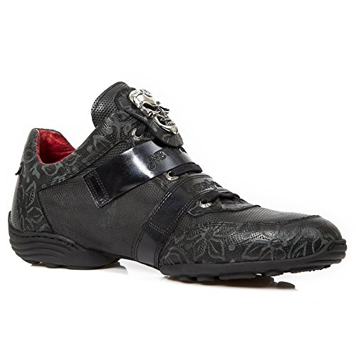 New Rock Mens M HY036 Gothic Leather Shoes Black