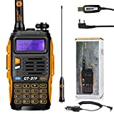 BAOFENG GT-3 Mark II HandFunkgerät Amateurfunk Radio UHF/VHF 2m/70cm Dual Band Walkie Talkie PMR + USB Kabel