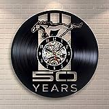 Mrzy Mercedes-Benz Pferd Vinyl Record Wanduhr Vinyl Wall Art Dekoration 30cm