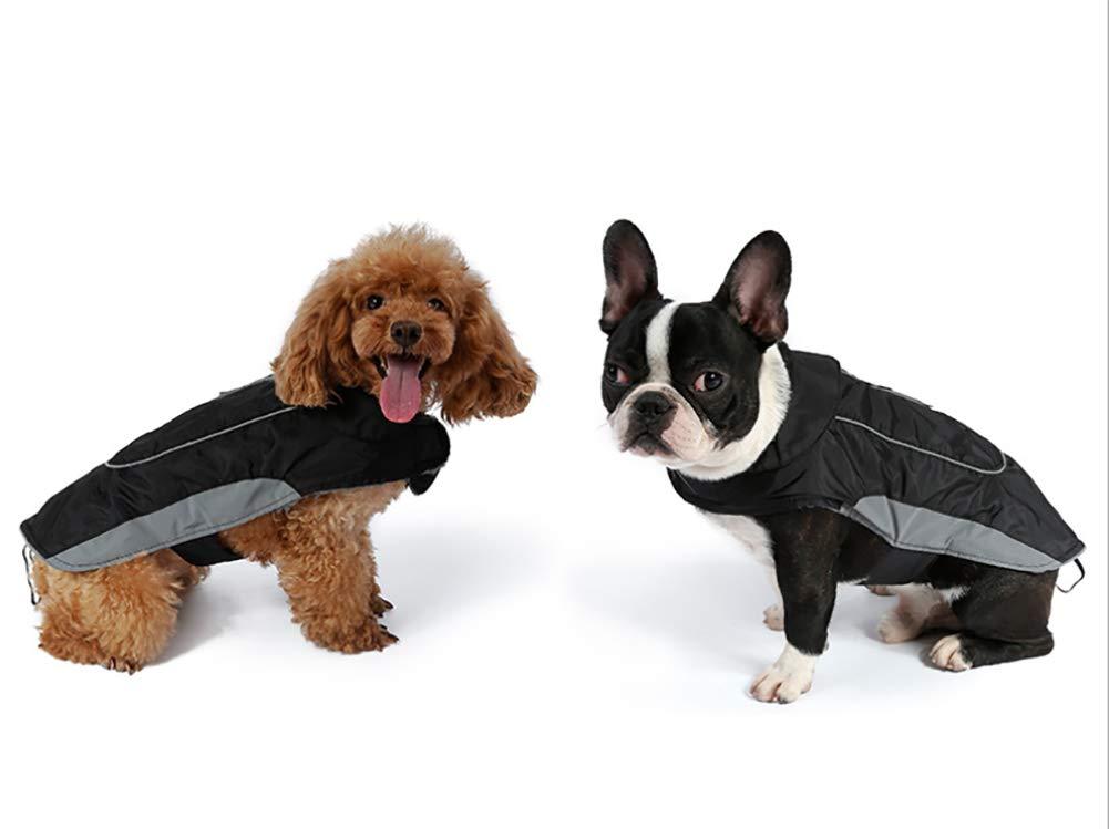 Morezi Premium Outdoor Sport Waterproof Dog Jacket Winter Warm Large Dog Coat with Harness Hole Red 4