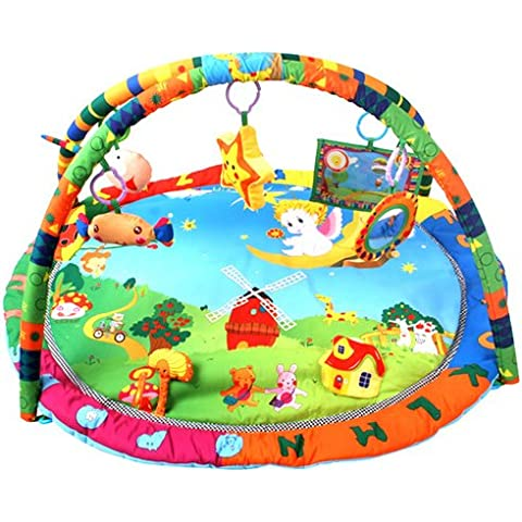 Velocidad bebé manta para gatear con centro de actividades para manta para gatear manta de juegos manta de juegos para bebé música