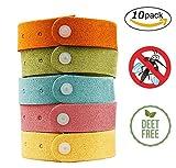 Acidea Anti Mücken Armband, bestes Indoor Outdoor Mückenschutz-100% natürliches Aroma Duft Öle, wiederverwendbar, 240 Stunden Schutz, Armband für Kinder & Erwachsene(10 Stück)