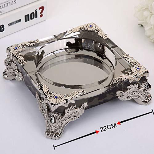 Czz Hochwertiger Aschenbecher, Kreativer Luxus-Aschenbecher Aus Kristallglas, Stilvoller Europäischer Aschenbecher Für Den Haushalt,F,Aschenbecher