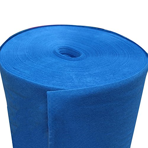QiangDa Hochzeitsteppich Hochzeit Teppich Blau Einmalige Rolle Gang Teppich Eröffnungsausstellung Polypropylenfaser, -160 G/M², Dicke 2 Mm, 8 Größen Optional (größe : 1m x 20m) - Optional Rollen Rollen