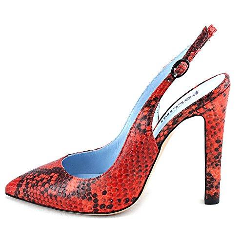 Studio Pollini SA1032AC1KTD0450 Femmes Cuir Talons Red-Black