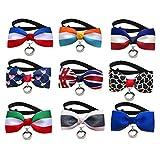 BESTOYARD 3 stück Hundehalsbänder Hundefliege Hund Katzen Welpen Kostüm Krawatte Hochzeit Weihnachten Haustier Fliege Kragen (zufällige Farbe)