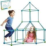 Kit De Construcción De Fuertes para Niños 3 a 12 años, Juego De Construcción para Interiores con Palos De Construcción,Túnele