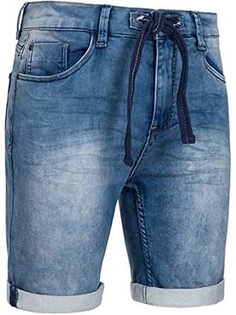 Eight2Nine Herren Sweat Jogg Jeans Short 61005KAEN in Hellblau Waschung 2 Größe 32