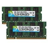 2GB (1 x 2GB) DDR2 800MHz (PC2 6400S) SO Dimm Notebook Laptop Arbeitsspeicher RAM Memory DUOMEIQI Arbeitsspeicher Laptop-Speicher für DDR2 Computersysteme Intel AMD und Mac System (6400S 2GB * 2, ☼ Blau)