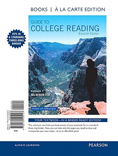 Guide to College Reading, Books a la Carte Edition