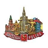 Imán para nevera, diseño de Polonia de Varsovia, decoración para el hogar y la cocina