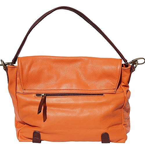 sac à èpaule avec rabat 6141 Orange-marron