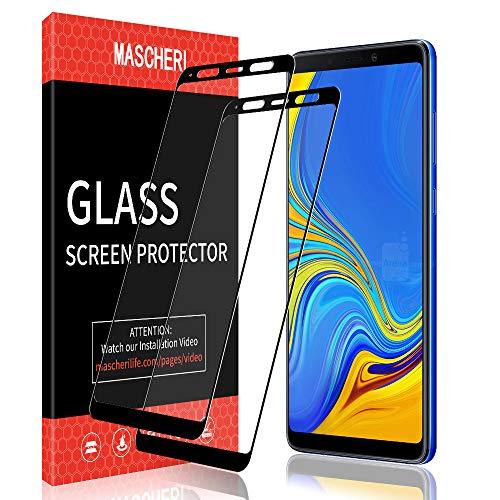 MASCHERI Protettiva Pellicola per Samsung Galaxy A9 2018, [2 Pezzi] [Copertura Completa] [Anti-graffio] [Garanzia a Vita] Vetro Temperato per Samsung A9 2018 - Nero