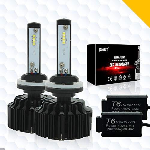 Modify-GT LED Ampoules de Phare kit de Conversion 6000 K Blanc Froid lumens CSP Chips Feux de Brouillard/Faible Faisceau Ampoule de Phare de Remplacement + Canbus-2 Ans de Garantie