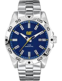 CAT Level 3HD Men's Quartz Watch with Blue Dial Analogue Display and Silver Stainless Steel Bracelet IN.141.11.626