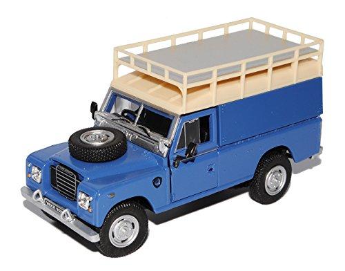 alles-meine.de GmbH Land Rover Defender Series III 109 Blau Kasten mit Aufbau 1/43 Cararama Modell Auto - Wildnis Blau