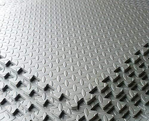 Eva-schaum Grau (Grau Garage/Werkstatt/Showroom Bodenbelag EVA-Schaum Matte Tile Interlocking-4Stück 16sq FT)