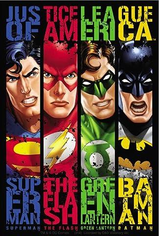 JUSTICE LEAGUE Banners, Original DC Comics Superhero Artwork, High Quality, 3.3