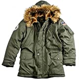 Alpha Industries Polar Jacket, Größe:M;Farbe:dark green